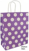 T-J6.1 PK525-009C Paper Giftbag 21x15cm Purple 12pcs