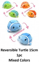L-A6.2 T2109-024 Reversible Turtle 15cm - Mixed Colors - 1pc