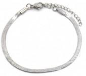 C-B18.2 B019-001S S. Steel Bracelet 3mm Silver