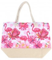 Y-E3.2 BAG528-029 Beach Bag Flamingos 36x52cm