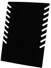 Q-E8.2 PK424-012 Foldable Necklace Display 28x19cm Black