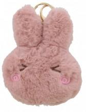 S-J3.1  KY2035-011E Fluffy Keychain Bunny 12x10x3cm Pink