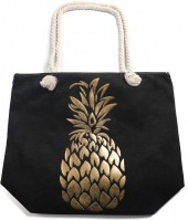 Y-F2.4 BAG530-004 Beach Bag Pineapple Gold-Black