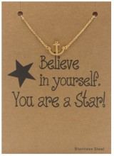 E-A5.5 B015-001 Stainless Steel Bracelet Anchor Gold