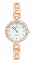 A-D19.5  W523-004 Quartz Watch Metal with Crystals 25mm Rose Gold