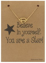 E-B3.8 B015-005 Stainless Steel Bracelet Love Gold