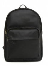 Z-E2.2 Large Leather Backpack 47x32x15cm Black