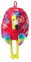 Y-E2.1 BAG416-003B Plush Backpack Flamingo Red