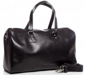 T-D8.2  BAG-921 Luxury Leather Travel-Sport Bag 47x32x16cm Black