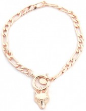 C-D20.2 B2019-007RG Bracelet Chain with Wolf Rose Gold
