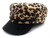 T-C6.1 HAT503-001E Sailor Cap Animal Print Brown