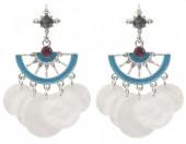 E-C19.3 E1631-015B Earrings with Shells 5x2.5cm SilverE-C19.3 E1631-015B Earrings with Shells 5x2.5cm Silver