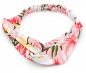 S-B2.3 H305-010 Headband Flowers Pink