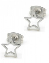A-B3.3  E1842-005 Stainless Steel Studs Star Silver