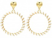 C-F21.2 E1631-069A Earrings with Pearls 6x4.5cm