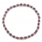 D-A22.3 B2142-005A S. Steel Elastic Bracelet Bauhinia Stone