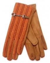 R-P7.2 GLOVE403-063A Rib Fabric Gloves Orange