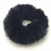 S-B3.2  H414-002D Fluffy Scrunchie Black