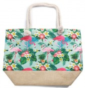 Y-C2.1 BAG528-001E Beach Bag Jungle Flamingos