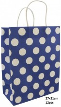 T-I4.2 PK525-009C Paper Giftbag 21x15cm Blue 12pcs