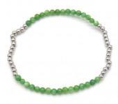 D-C18.5 B2142-005B S. Steel Elastic Bracelet Green Adventurine