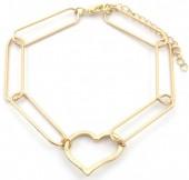 C-E17.4 B2019-006G Metal Bracelet Heart Gold