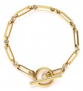 D-E22.3 B020-003G S. Steel Bracelet 18cm Gold