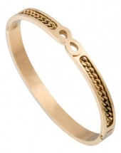 B-A16.4  Stainless Steel Bangle Infinity-Chain Gold