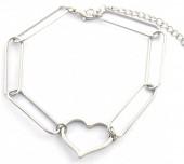 C-E7.3 B2019-006S Metal Bracelet Heart Silver