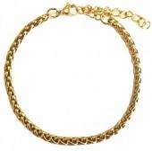 C-F19.1 B126-007G S. Steel Bracelet 4mm Gold