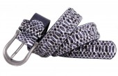 J-F3.2 FTG-072 PU with Leather Belt with Studs-Snake 3.5x105cm Purple