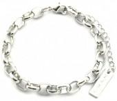 E-C4.3 B2019-016S Metal Chain Bracelet Silver