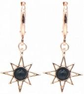 G-E4.2  E532-003R Earrings Sun Black-Rose Gold