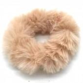 S-B1.4 H414-002C Fluffy Scrunchie Brown