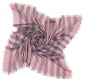 T-N4.2  Checkered Square Scarf 140x140cm Pink