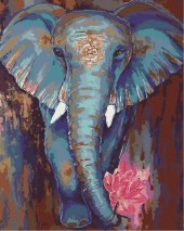 Y-F1.4  MS7886 Paint By Number Set Elephant Lisa 50x40cm