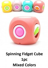 T2152-002 Gyro Spinning Pop It Cube - 5x5x5cm - Mixed Colors - 1pc