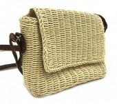 BAG003-004 Straw Crossbody Bag  Beige