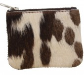S-A4.3 BAG1052 Cowhide Pouch Mixed Colors 12x9cm