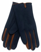S-B8.1  GLOVE501-005E Soft Gloves Two-Tone Brown-Blue