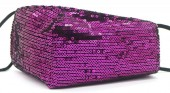H-C4.1 FM042-026I Glitter Face Mask - Individually Packed - Purple