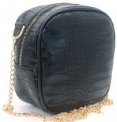 Y-C4.2 BAG535-001B Crossbody Bag Croco 18x18x8.5cm Black