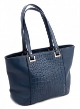 R-A5.1  Luxury Leather Bag 38x24cm Blue