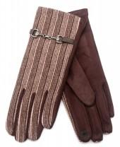 R-O3.1 GLOVE403-063B Rib Fabric Gloves Brown