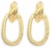 E-A3.2 E2019-010G Metal Earrings 30mm Gold