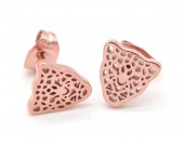 A-B17.4 E1842-010 Stainless Steel Studs Leopard Rose Gold
