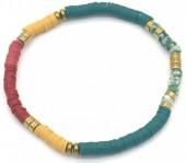 E-E20.5 B1941-001A Surf Bracelet with Semi Precious Stones Blue-Yellow-Red