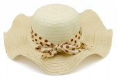 Y-C2.1 HAT210-028C Hat with Bow 41cm for Kids Beige
