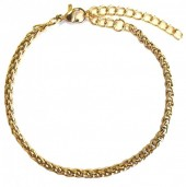 B-D16.3 B126-007G S. Steel Bracelet 3mm Gold