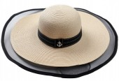 R-C6.2 HAT504-006B Hat with Anchor Beige